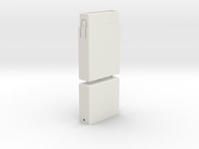Cigarette Box in White Natural Versatile Plastic