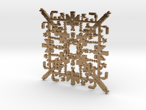 Super Mario Brothers Snowflake in Natural Brass