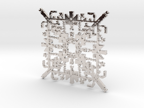 Super Mario Brothers Snowflake in Rhodium Plated Brass