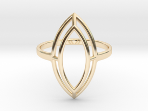 Marquise Simple Wire Ring - US Size 08 in 14K Yellow Gold