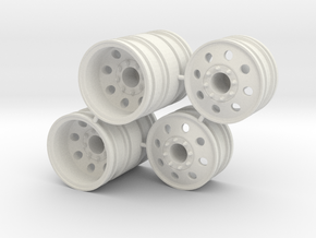 Rim Eagle 4x4 Dually Set - Losi McRC/Trekker in White Strong & Flexible