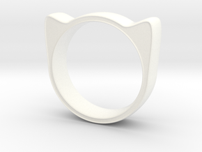 Meow ring 17mm in White Strong & Flexible Polished