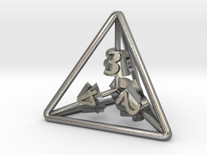 4-Sided Vector Die in Natural Silver