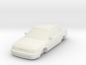 ho scale 1993-1997 toyota corolla in White Natural Versatile Plastic