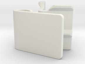 Gopro S-Mount (25 degrees) in White Natural Versatile Plastic