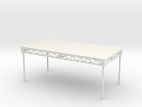 1:25 Steeldeck 8x4, with legs in White Natural Versatile Plastic