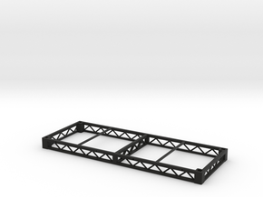 1:25 Platform 8x3, frame only in Black Natural Versatile Plastic