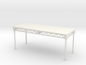 1:25 Platform 8x3, with legs in White Natural Versatile Plastic