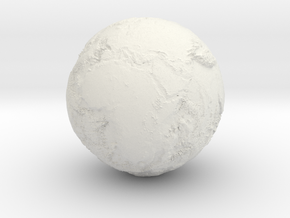 Earth Seabed in White Natural Versatile Plastic
