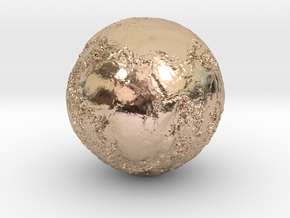 Earth Seabed in 14k Rose Gold Plated Brass