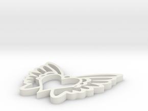 Heart Wing Love in White Natural Versatile Plastic