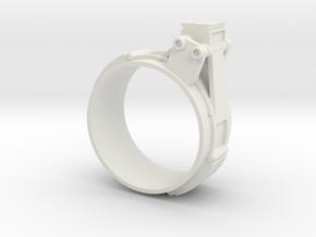 EE-3 JK Scope Mount Rear in White Natural Versatile Plastic