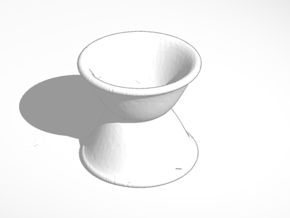 egg cup reverse stacked tall in White Natural Versatile Plastic