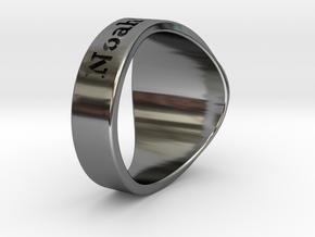 Buperball Noah Ring Season 5 in Fine Detail Polished Silver