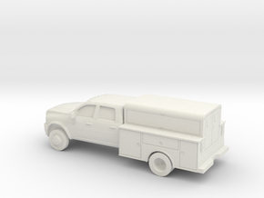 1/87 2009-15 Dodge Ram Crew/Utility in White Natural Versatile Plastic