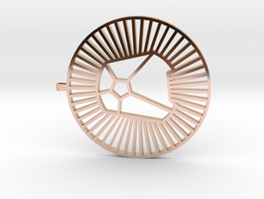 { simple design } 'A'  in 14k Rose Gold Plated Brass