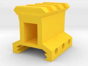 "1"" High 3 Slots Picatinny Riser in Yellow Processed Versatile Plastic"