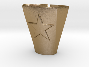 2-25-14star.5thickness in Polished Gold Steel