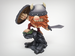 Viking Horde Warrior 80mm in Full Color Sandstone