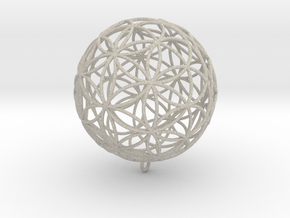 Pendant 100mm Flower Of Life in Sandstone