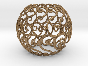 Celtic sphere (4,13)  v1.2 in Natural Brass