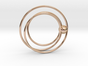 Cydonia pendant in 14k Rose Gold Plated Brass