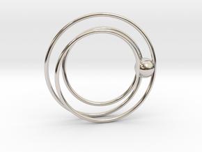 Cydonia pendant in Rhodium Plated Brass