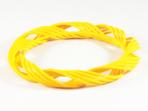 Twist Bangle  C05L in Yellow Processed Versatile Plastic