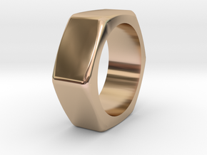 Nut in 14k Rose Gold Plated Brass