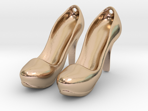 Modern Heels - Style 2 size 2 in 14k Rose Gold Plated Brass
