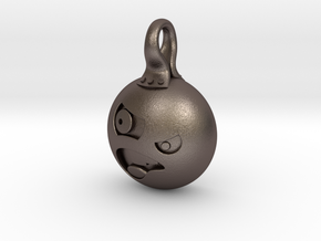 Angry in Polished Bronzed Silver Steel