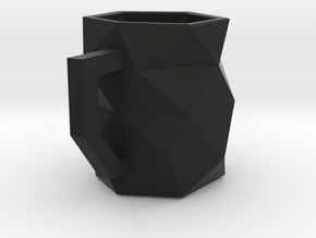 Geo Mug in Black Natural Versatile Plastic
