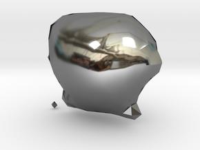 Archipelis Designer Model in Fine Detail Polished Silver