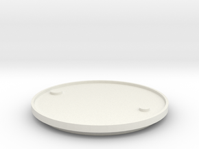 1/14 Scale Lid For 205 Ltr Drum (54 Gal) in White Strong & Flexible