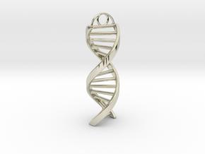 DNA Keychain in 14k White Gold