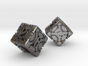 DICE 2 pack in Polished Nickel Steel