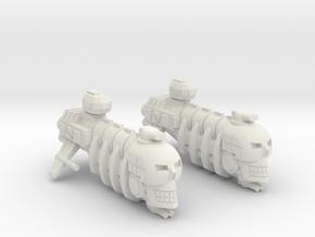 Skull Pirate X2 in White Natural Versatile Plastic