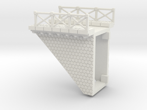 NV3M13 Small modular viaduct 1 track in White Strong & Flexible
