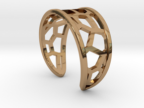 Ring of lover's brige in Polished Brass
