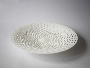 CORBEILLE PETALE in White Natural Versatile Plastic