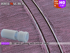 SET Brick paving with border (H0e) in Smooth Fine Detail Plastic