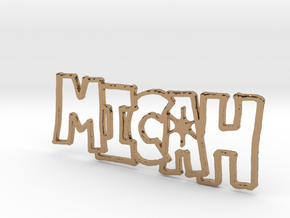 Micah Spark Keychain in Polished Brass