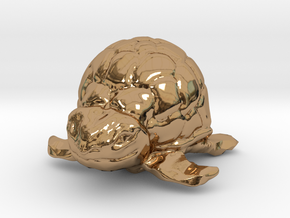 Turtle Miniature in Polished Brass