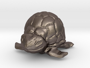 Turtle Miniature in Polished Bronzed Silver Steel