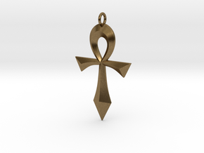 Swept Ankh in Natural Bronze