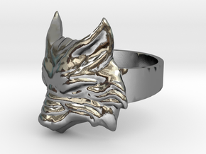 Fenrir - Norse Wolf Ring - Size 8 in Polished Silver