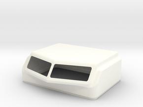 KW Aero 1 Style Cap For Stock Bunk in White Processed Versatile Plastic