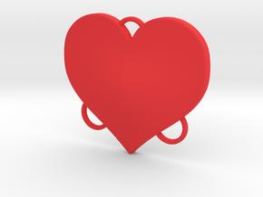 Bikini Plate - Heart Pattern in Red Processed Versatile Plastic