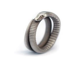 Snake Ring (various sizes) in Raw Silver