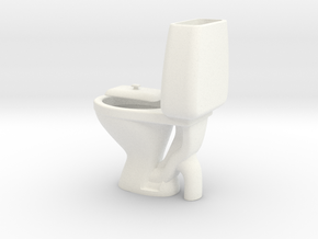 Miniature Toilet Seat A 1/12 in White Processed Versatile Plastic
